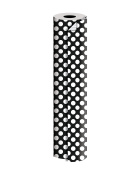"Jillson Roberts 60mx24"" Bulk 1/4 Ream All-Occasion 2-Sided Gift Wrap, Black Silver Dots/Stripes"