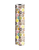 "Jillson Roberts 60mx30"" Bulk 1/4 Ream All-Occasion Gift Wrap, Donuts"