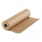 Boardwalk Kraft Paper, 90cm x 210m, Brown - Includes one roll.
