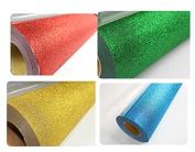 48cm x 4yards Glitter Heat Transfer Vinyl 4 Colours for T-shirt Transfer Print