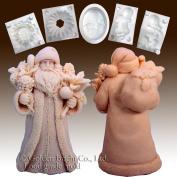 Santa W/robe Carrying Bag - Silicone Soap/sugar/fondant/chocolate/marzipan 3d Mould