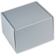 Silver Metallic Decorative Mailers, 8 x 20cm x 7.6cm