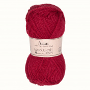 Red - Woolyknit Aran Pack of 10 x 50g Balls (500g) + Free Woolyknit Pattern |100% British Worsted Hand Knitting Wool Yarn
