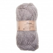 Light Grey Natural - Woolyknit Aran Pack of 10, 50g Balls Free Woolyknit Pattern |100% British Worsted Hand Knitting Wool Yarn (Light Grey Natural)Woolyknit Aran Pack of 10 x 50g Balls (500g) + Free Woolyknit Pattern |100% British Worsted Hand Knitting ..