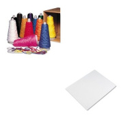 KITPAC00590PAC104159 - Value Kit - Pacon Trait-Tex Double Weight Yarn Cones (PAC00590) and Pacon Four-Ply Poster Board