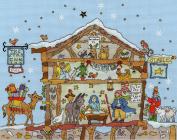 Bothy Threads Cut Thru Nativity Cross Stitch Kit Xct27 Blue