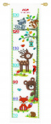 Vervaco Height Chart Forest Animals II Cross Stitch Kit