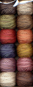 Valdani Perle Cotton Embroidery Thread Size 12 Vintage Hues Collection