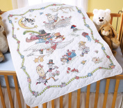 Mary Engelbreit Mother Goose Crib Cover Stamped Cross Stitch-90cm x 110cm