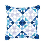 Vervaco PN-0145699 | Triangles Cushion Front Long Stitch Kit | 40 x 40cm Approx