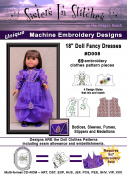 46cm Doll Fancy Dresses - In the Hoop - Machine Embroidery Designs