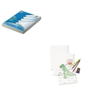 KITPAC101188PAC4718 - Value Kit - Pacon White Drawing Paper (PAC4718) and Pacon Array Card Stock