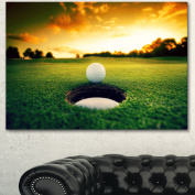 Designart PT14848-32-16 Golf Ball Near Hole Artwork Canvas Print, Green, 80cm x 41cm