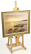 Displays2go Fully Adjustable Free-Standing Beech Wood Studio Easel with Non-Skid Rubber Feet