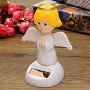 Faraway Solar Toys Plastic ABS Dancing Fun Angel, Solar Swinging Angel For Desk