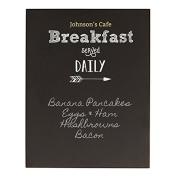 Personalised Breakfast Menu Chalkboard