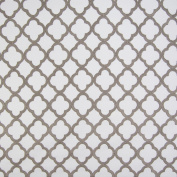 Shadow Grey Medallion Geometric Lattice Embroidery Woven Texture Upholstery Fabric by the yard