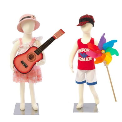 Abstract Standing Unisex Child Mannequin + Base (R-06) (5.1cm box!)