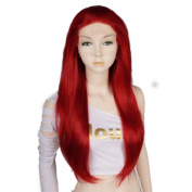 70cm Lace Front Wig 28 Inches Red Wavy Long Lace Heat Resistant Hair