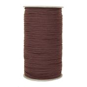288 Yards of Dark Brown 0.3cm Skinny Elastic - ElasticByTheYard