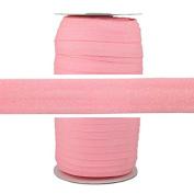 100 Yards - Pink Glitter - 1.6cm Fold Over Elastic - ElasticByTheYard