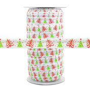 100 Yards - Modern Christmas Tree - 1.6cm Fold Over Elastic - ElasticByTheYard