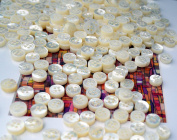 Lot of 50 Ultra Thick 4.5mm WHITE MOTHER OF PEARL (MOP) SHIRT BUTTONS - sizes 18L
