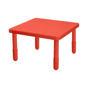 Angeles Kids Preschool Large Square Value Table Candy Apple Red - 41cm H