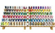 Simthread 120 Spools 120d/2 550y(500m) Polyester Machine Embroidery Thread for Home Embroidery Machine