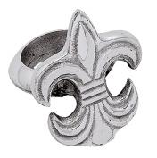 Silver Fleur de Lis Napkin Ring by KINDWER