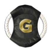 Pink Sky Gold Letters G Classical Pet Throw Toy Braided Cotton Rope Frisbee Dog Chew Toys Outdoor Training Tool Canvas Flying Disc