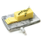 Marble Cheese Slicer,Danish Adjustable Cheese Board with Slicer,Marble Grey