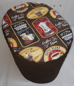 Quilted Morning Coffee Food Processor Cover