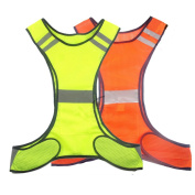 Reflective Safety Vest Running Cycling Dog Walking Safety Sports Gear High Visibility for Adults Children with Pocket