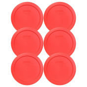 Pyrex 7201-PC Round Red 17cm 4 Cup Lid for Glass Bowl 6 Pack