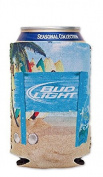 Bud Light Beach 350ml Beer Can Cooler Holder Kaddy Coolie Huggie