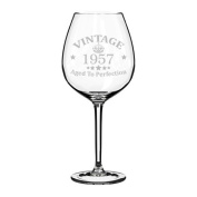 Wine Glass Goblet 60th Birthday Vintage Aged To Perfection 1958
