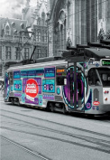GHENT'S TRAM, BELGIUM - COLOURED BLACK & WHITE