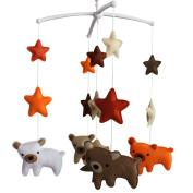 Baby Gift, Cute Room Decoration [Bear] Musical Mobile, Bed Bell