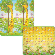 Baby Child Girls Crawling mat 2 Side Kids Playing Gym Mats Ideal Gift for Baby Baby Gife - 200 x 180 x 0.6cm