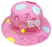 La Vogue Baby Girls Cartoon Cat Bucket Hat Fisherman Caps with Chin Strap