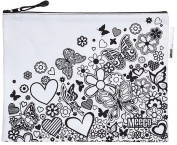 Doodleme Colour-in Book Bag for Girls with zip