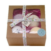 Bath Bomb Lush Gift Set - 4 x 2000gm Handmade in the UK Bathbomb Biscuits Bath Fizzies in Natures Scents with added Butters to Moisturise Dry Skin- Vegan Organic Ingredients - Bath Product Gift for her
