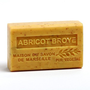 French Soap, Traditional Savon de Marseille - Crushed Apricot (Abricot Broye) 125g