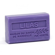French Soap, Traditional Savon de Marseille - Lilac (Lilas) 125g