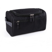 HOYOFO Oxford Travel Hanging Toiletry Wash Bag Dopp Kit for Men,Black