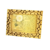 Photo Frame Wood Green Activists Table Desktop Eco Series Logs Retro Tree-ring Exhibition Boutique