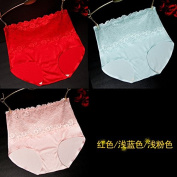 RRRRZ*Article 3 boxed SEXY UNDERWEAR female temptation lace your abdomen Ms. hip Briefs Top Loin of non-marking 3 point , press , Code Red / are light blue / Light Pink