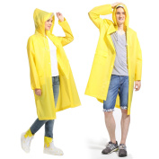 ArunnersTM Raincoats Men Women Waterproof Rainwear Long Rain Poncho With Hood Fruit Colour