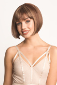 Brown Chic Bob Wig With Blonde Highlights